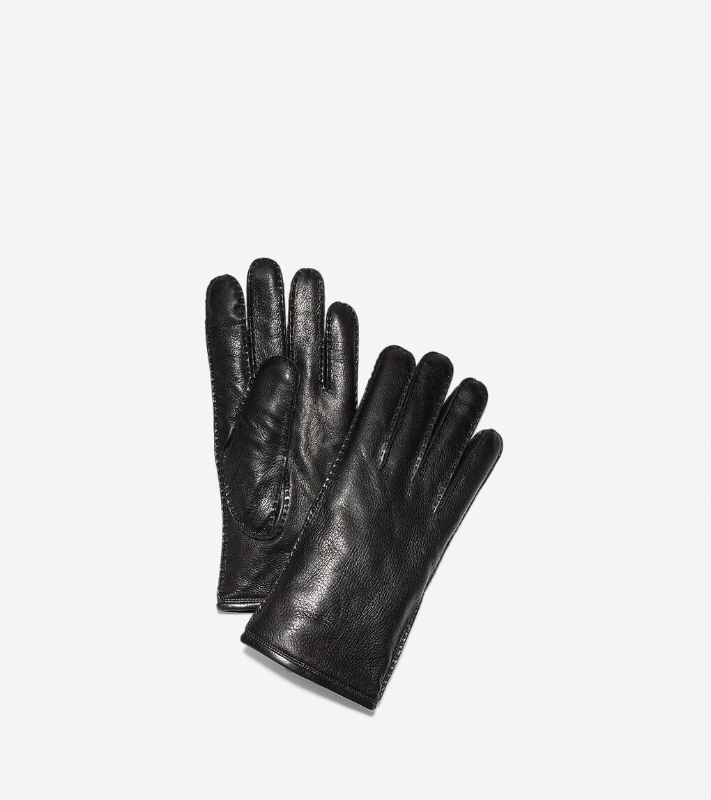 Mens Snap Button Gloves