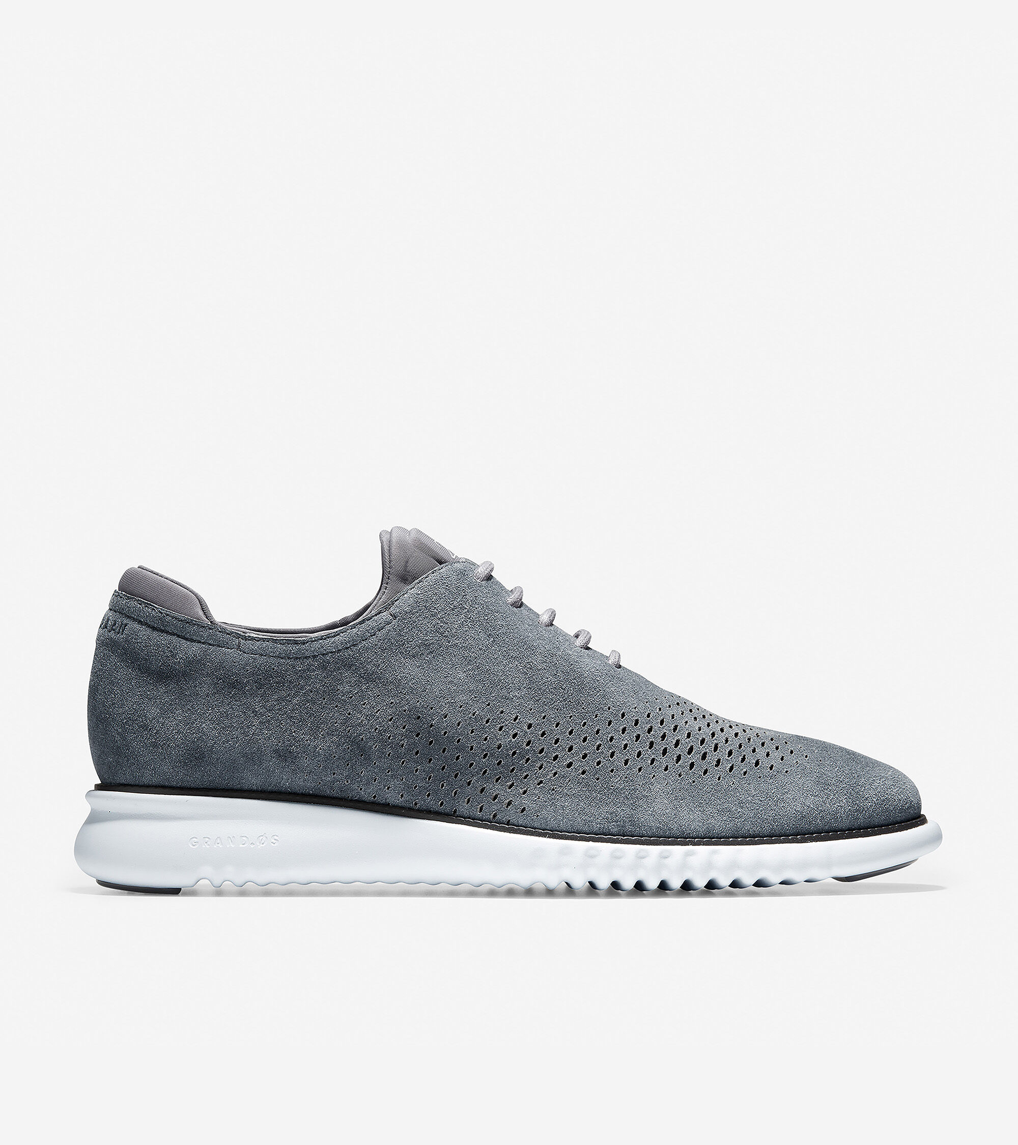 Quiet Shade Suede-Optic White   Cole Haan