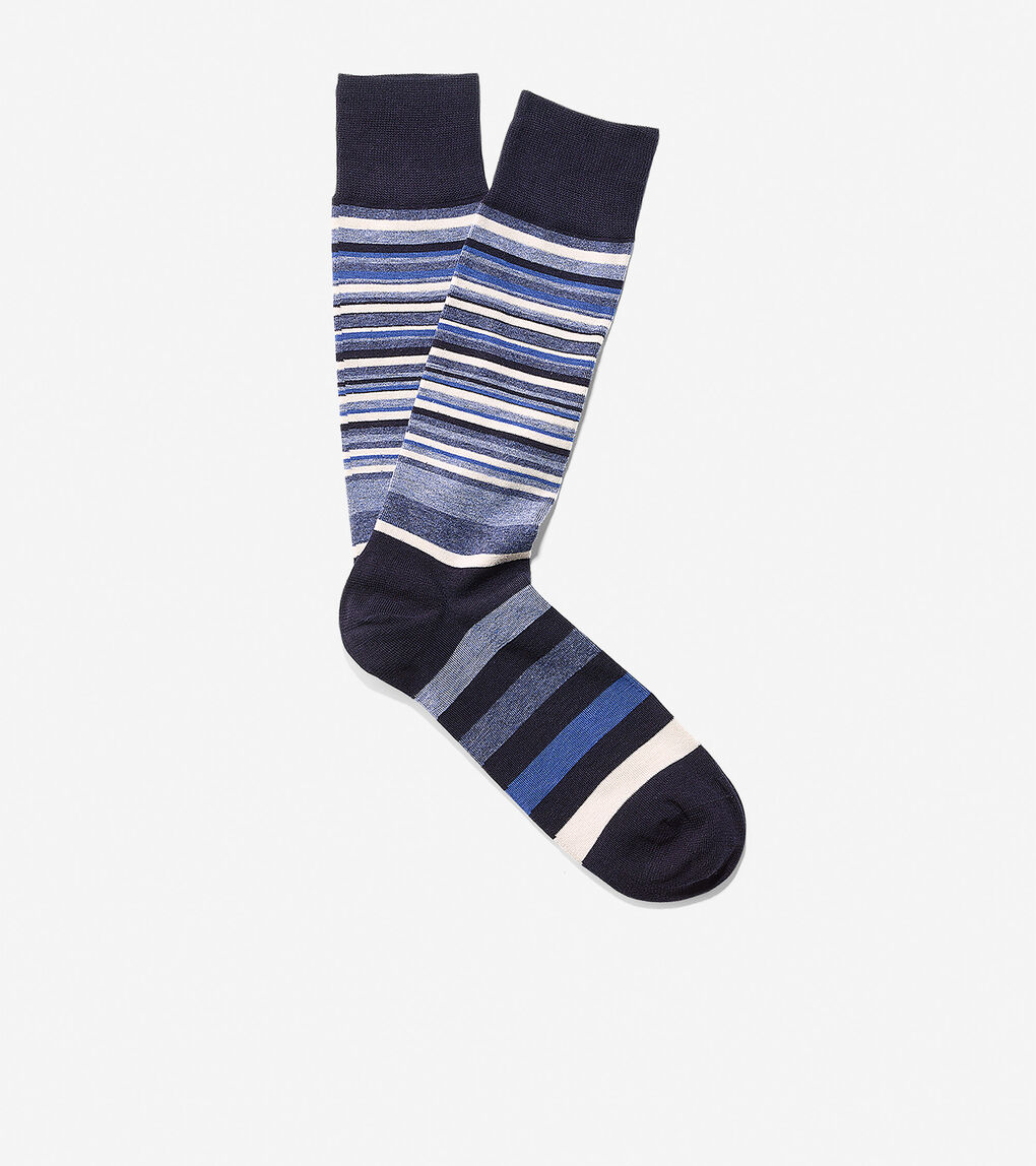 Mens Town Stripe Crew Socks