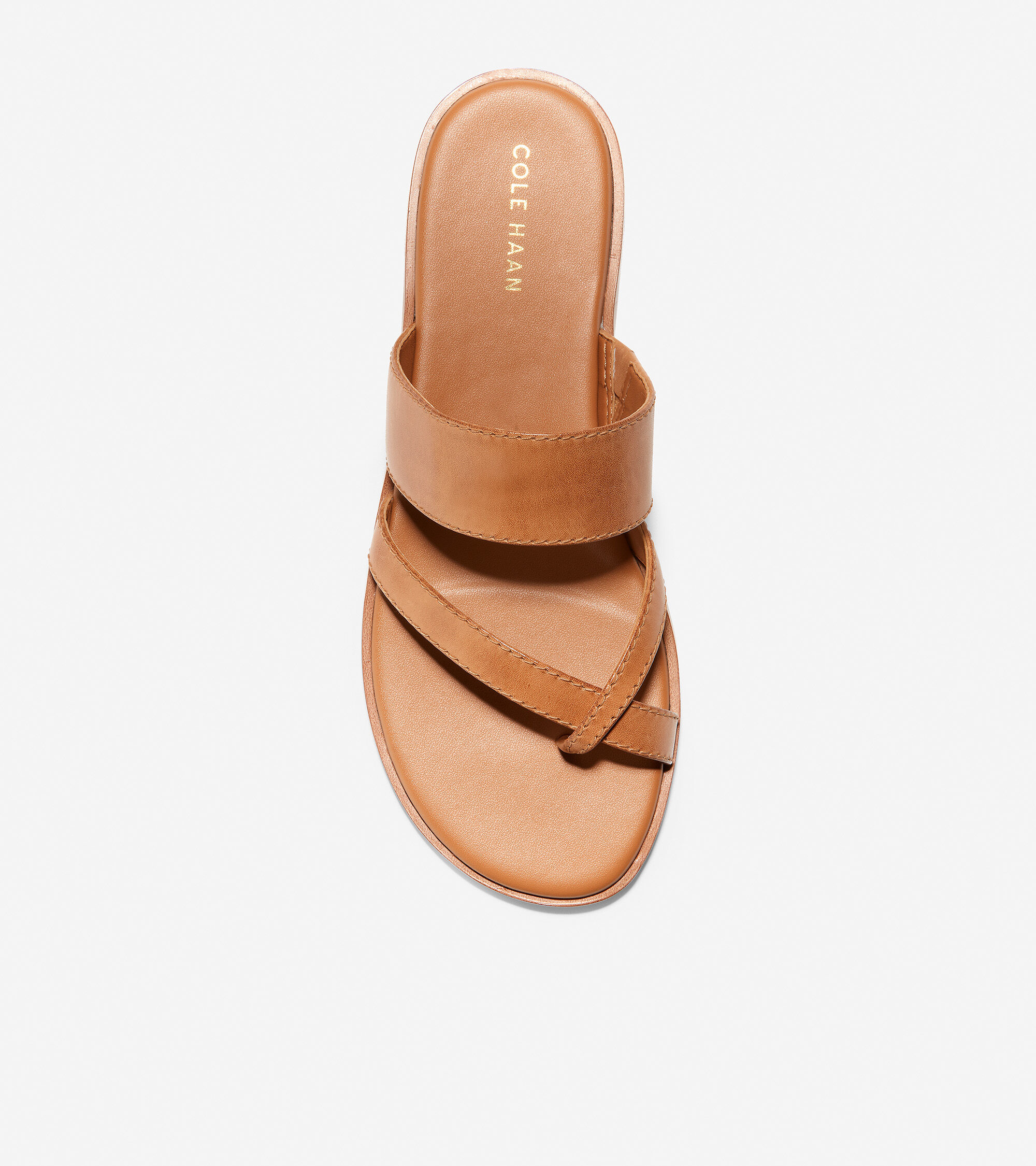 Felicia Thong Sandal in Pecan Leather