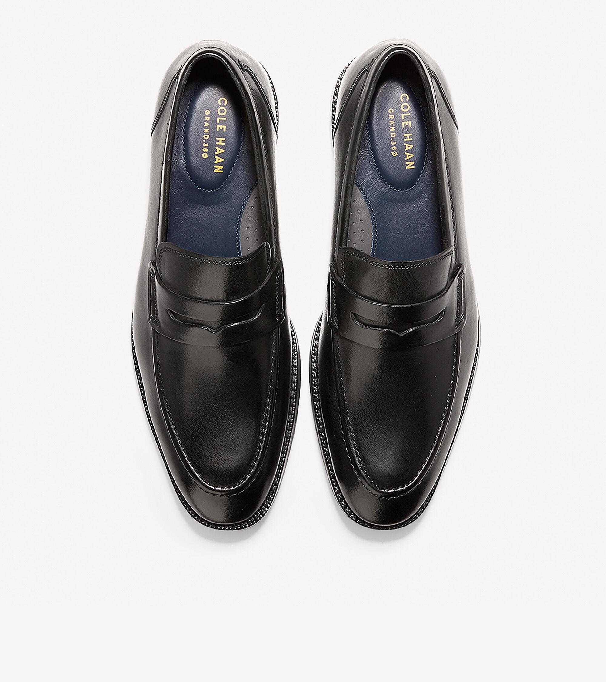 Warner Grand Penny Loafer in Black