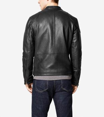 Spanish Grainy Leather Moto Jacket