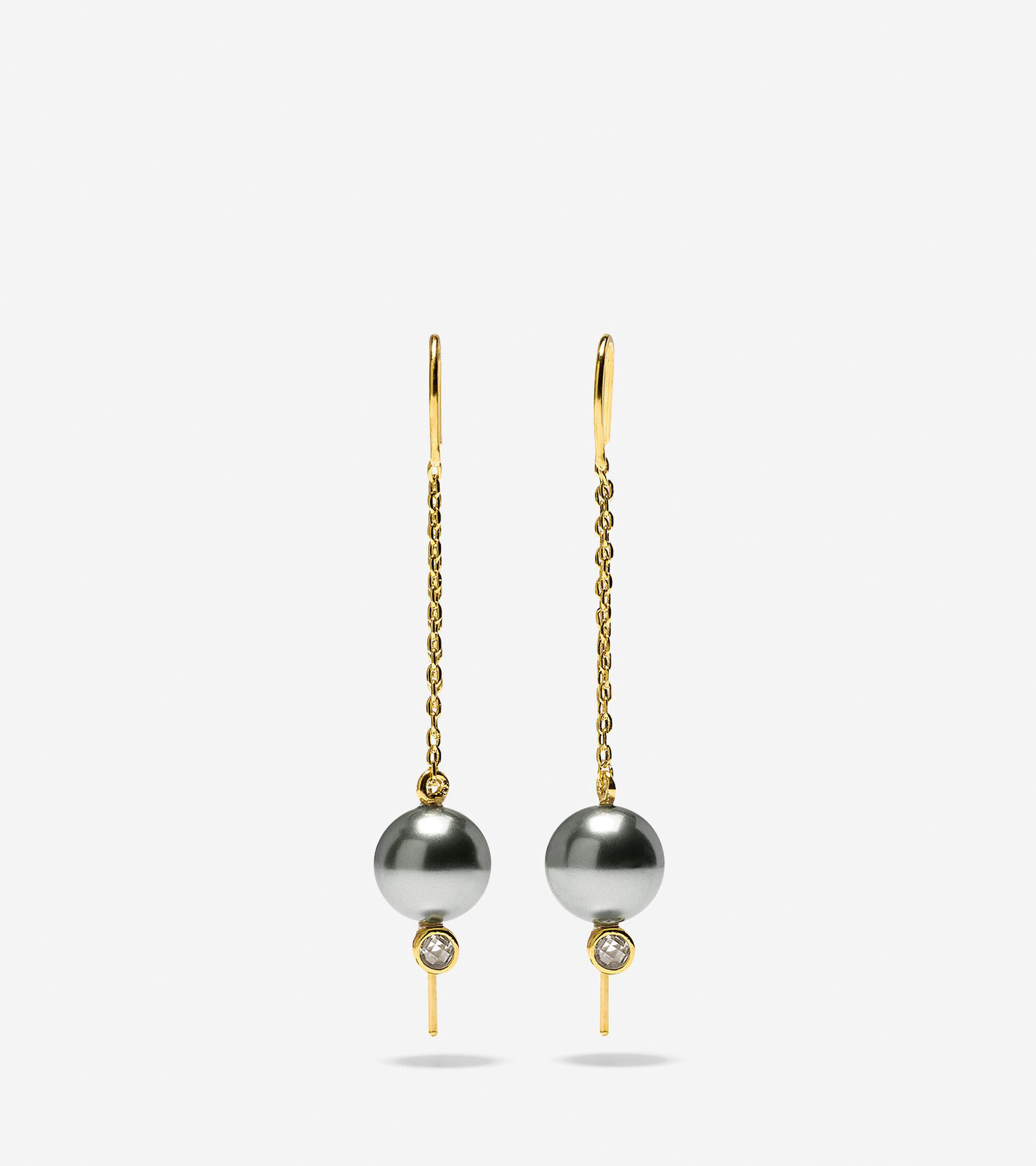 Starry Pearl Threader Earrings