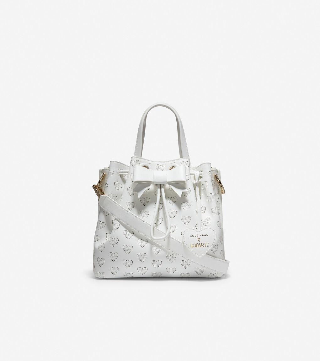 Womens Cole Haan x Rodarte Hearts Small Bucket Bag