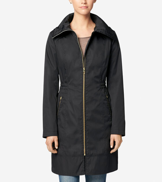 Accessories & Outerwear > Single Breasted Packable Rain Jacket