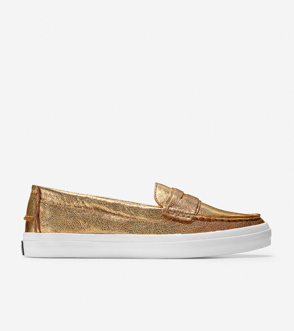 f581b105eb1 Women's Pinch Weekender LX Loafer in Gold Leather | Cole Haan US