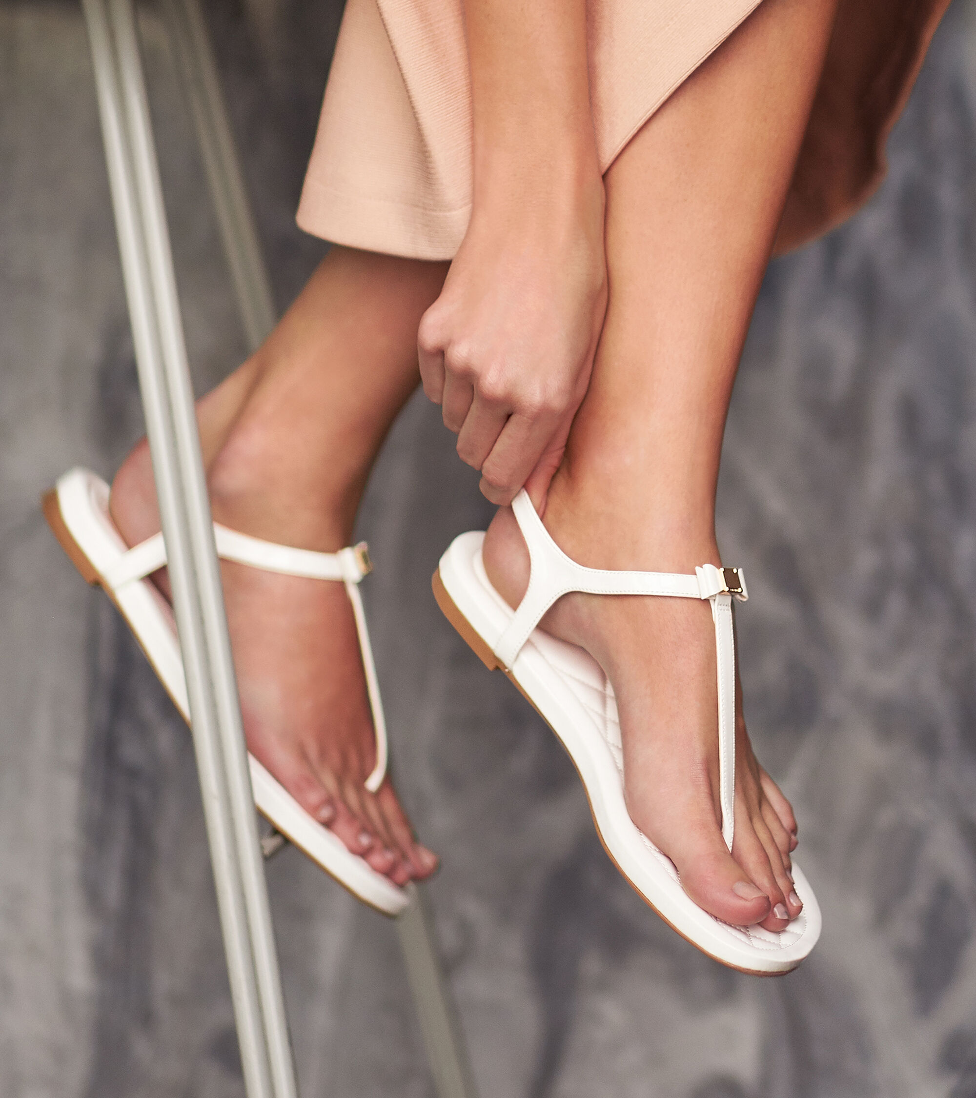 0cb8164fed3c5 Women s Tali Mini Bow Sandals in White Patent