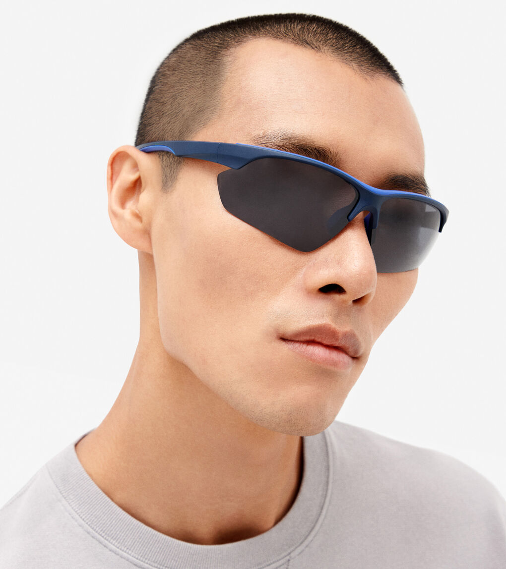 MENS Angular Sport Wrap Sunglasses