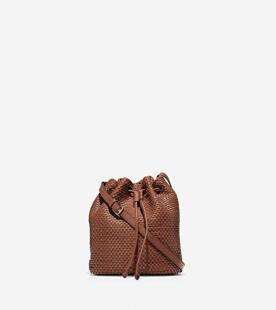 Handbags > Bethany Woven Drawstring Bucket