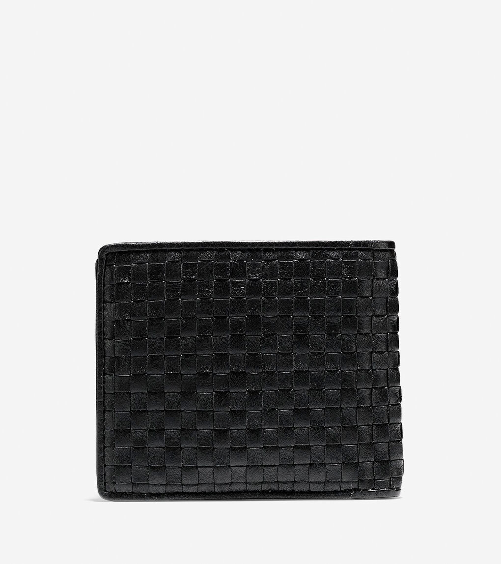 Mens Brayton Weave Bifold Wallet with Coin Pocket