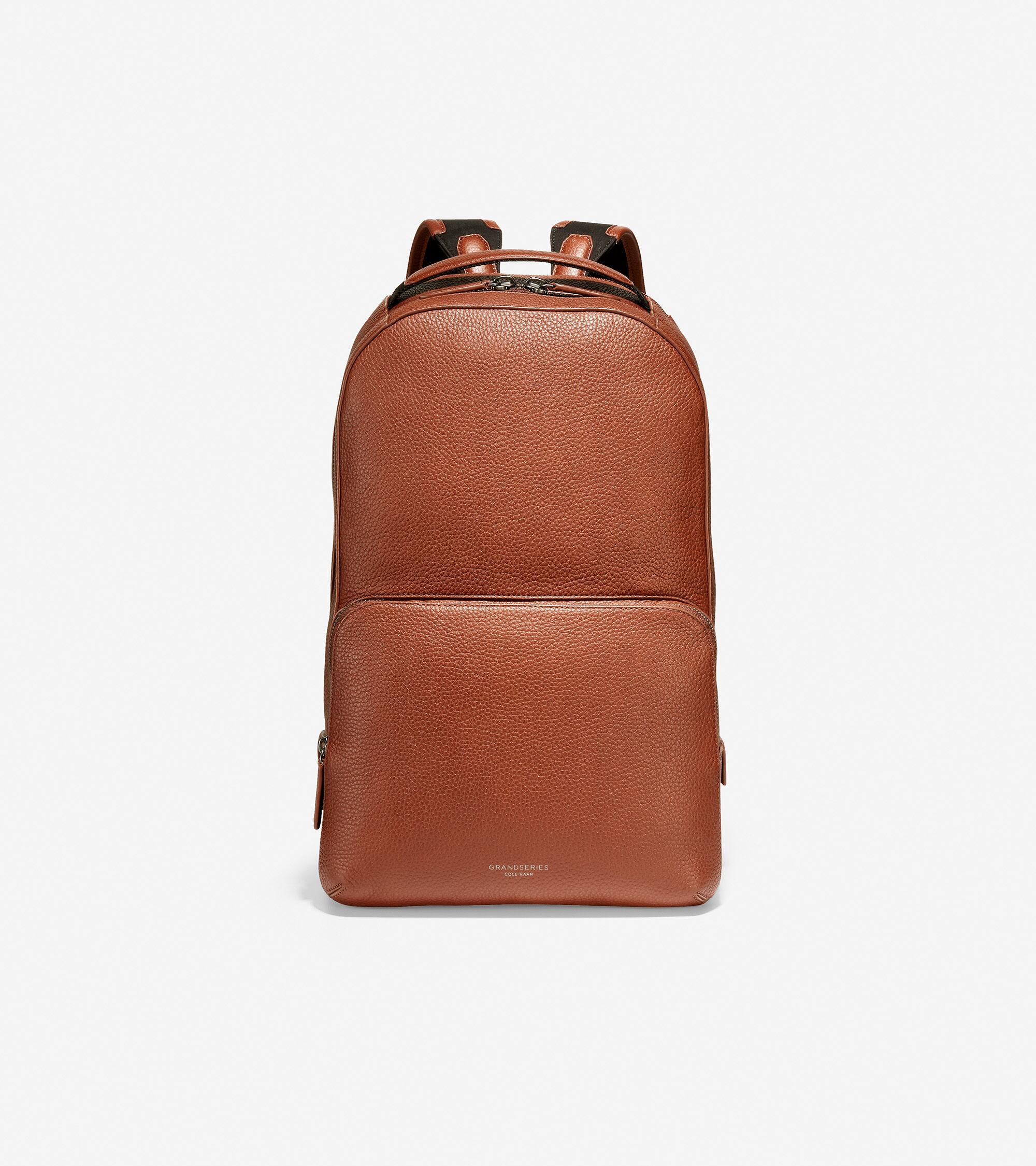 Cole Haan Men's GRANDSERIES Leather Backpack