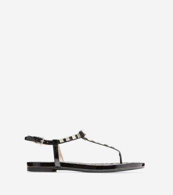 Shoes > Tali Mini Bow Studded Sandal