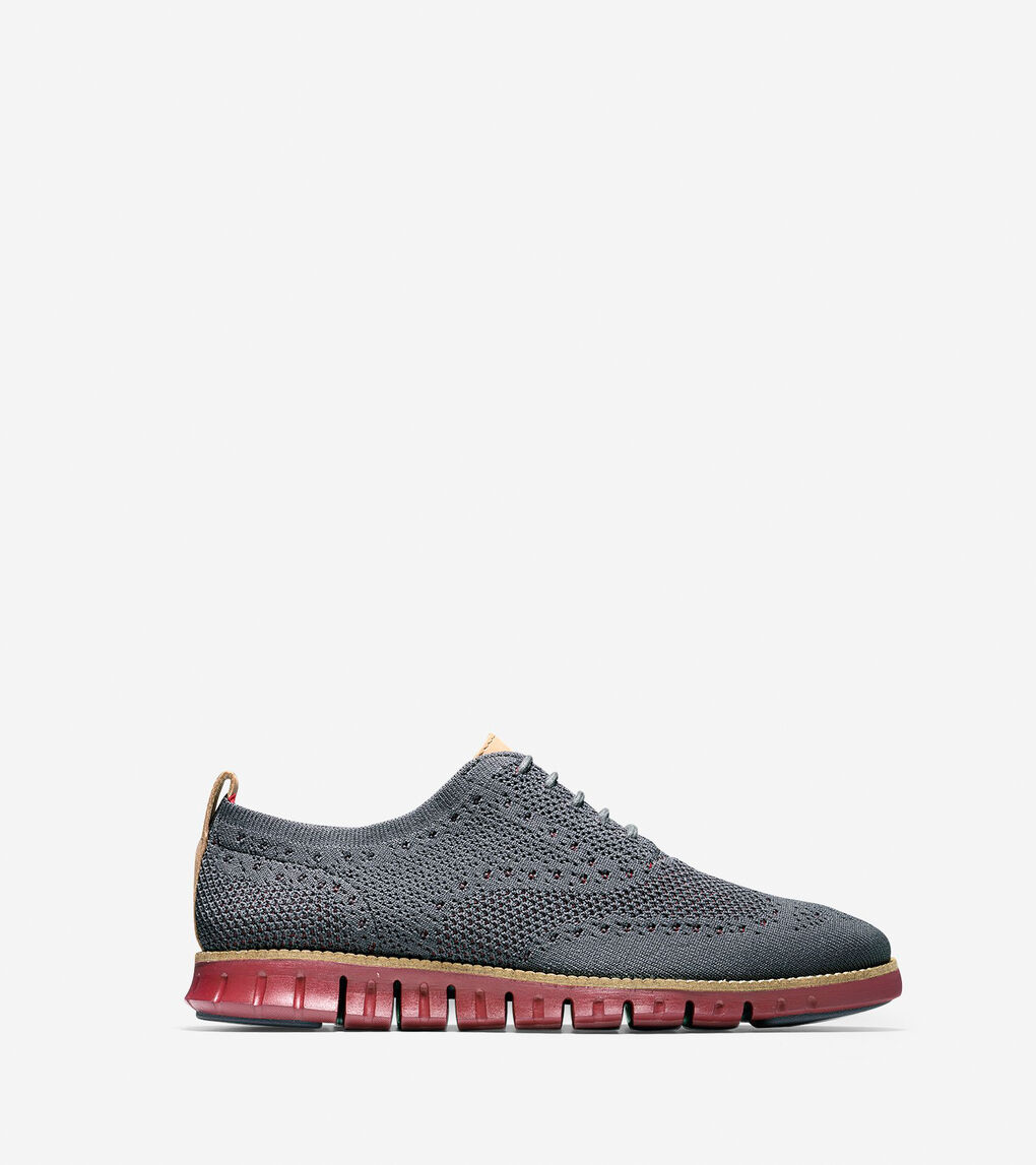 Mens ZERØGRAND Lined Wingtip Oxford