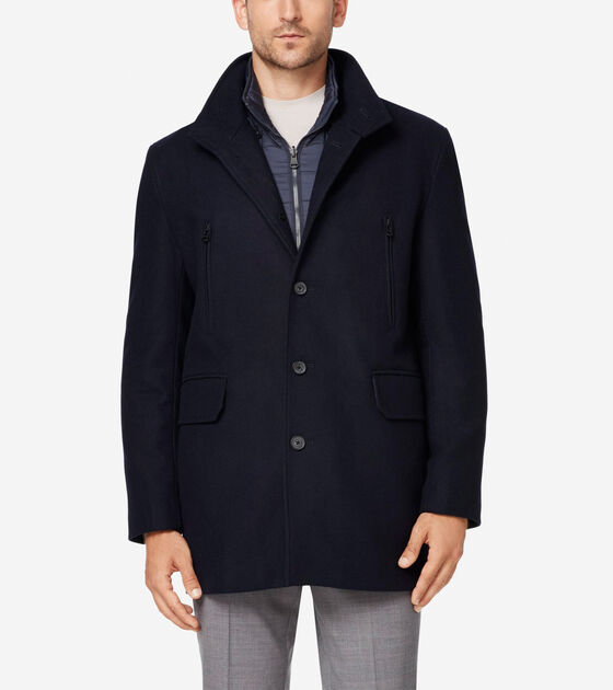Outerwear > Melton 3-in-1 Wool Topper