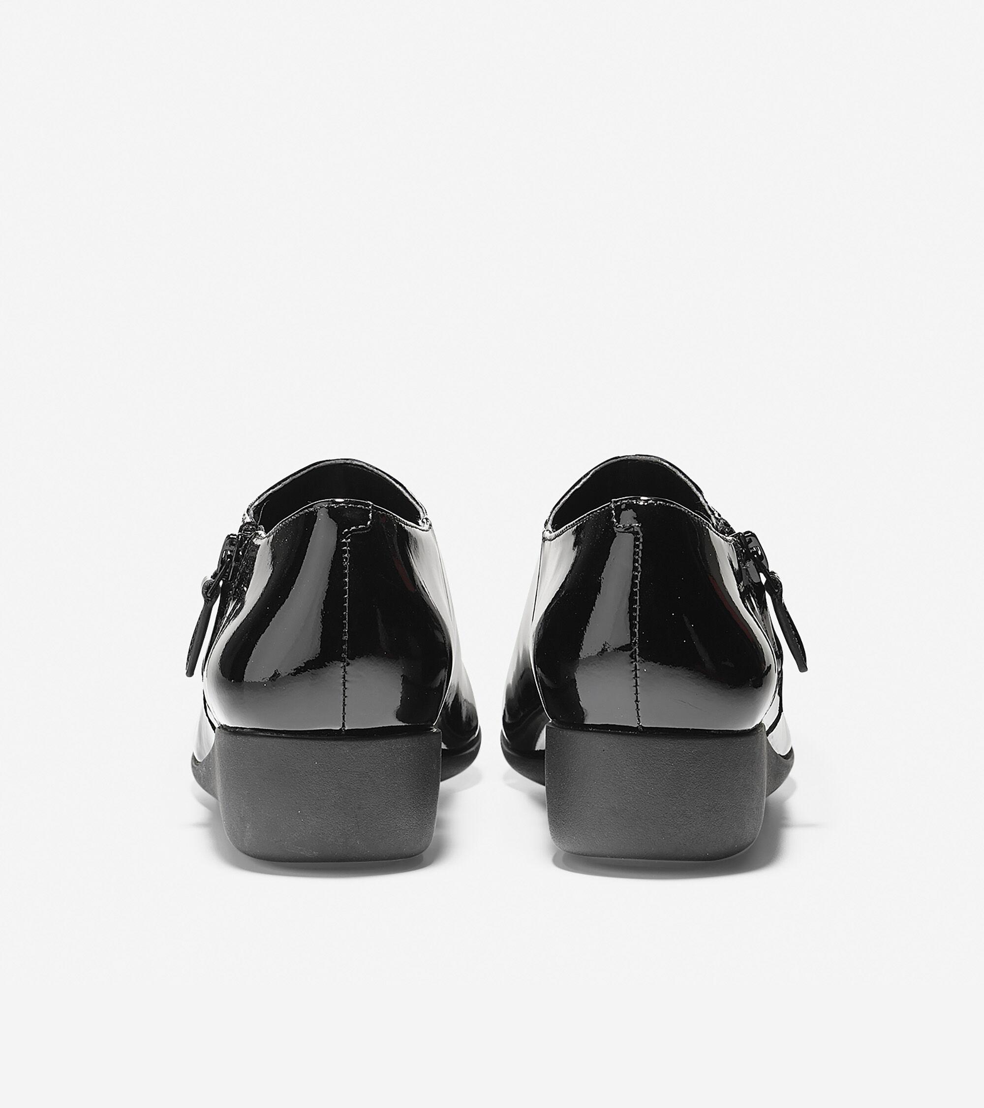 Callie Rain Shoe (30mm) in Black Patent