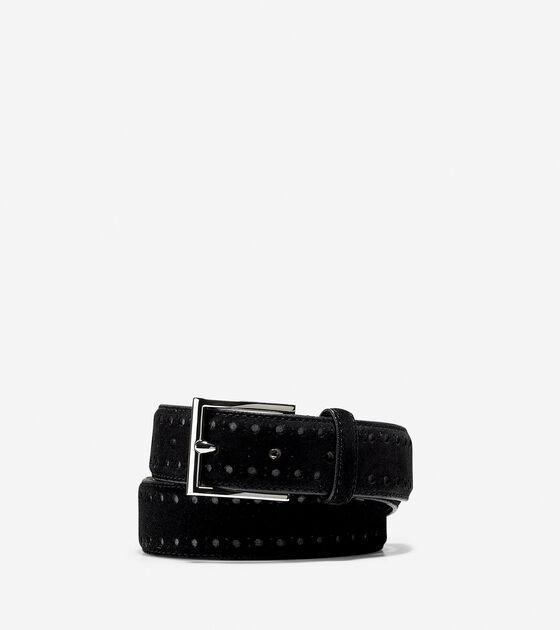 Accessories & Outerwear > 32mm Bridal Suede Belt