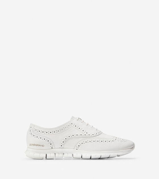 8fc29d3a03 Women's ZEROGRAND Wingtip Oxfords in White | Cole Haan