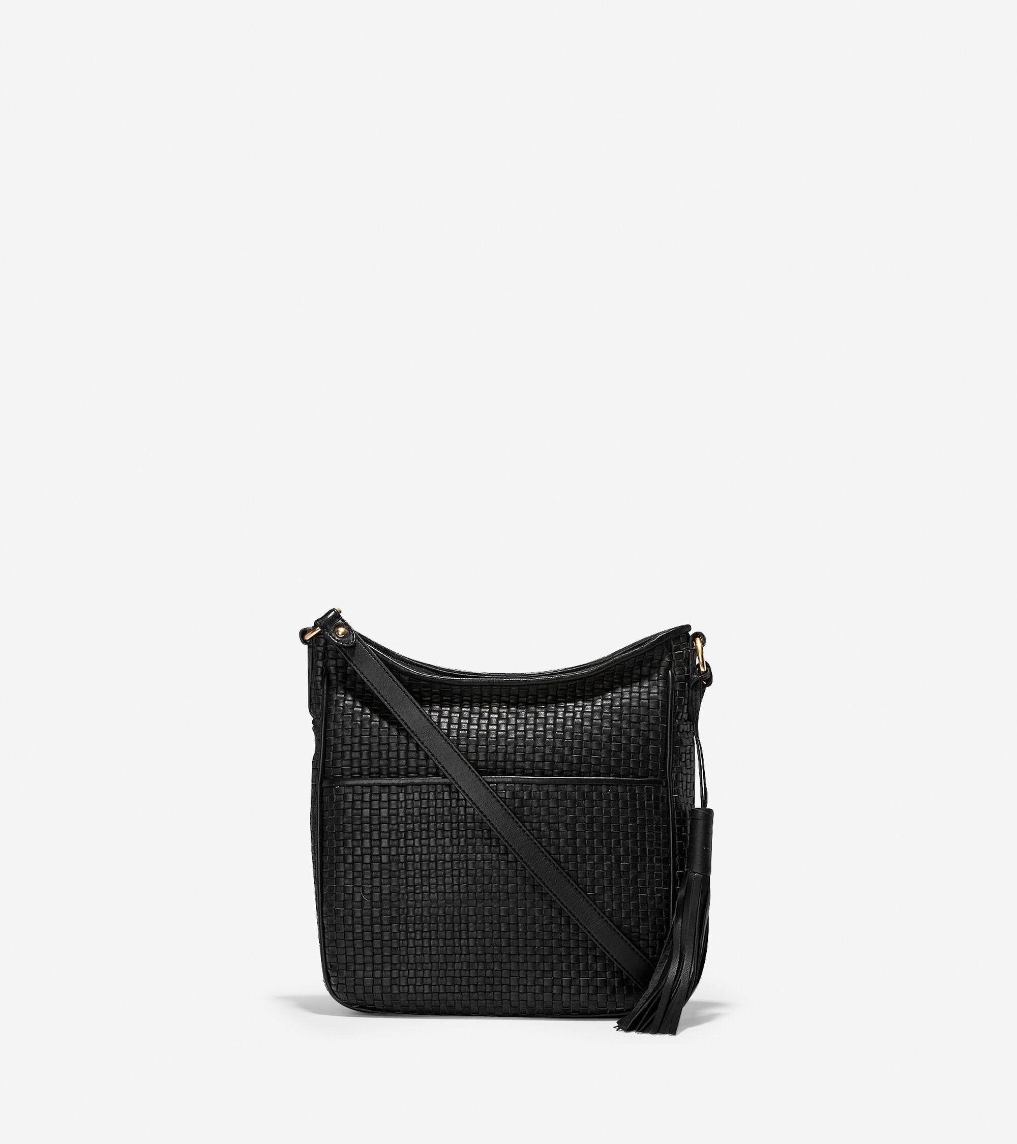 ecbcb970f4 Women s Gabriella Weave Crossbody in Black Leather