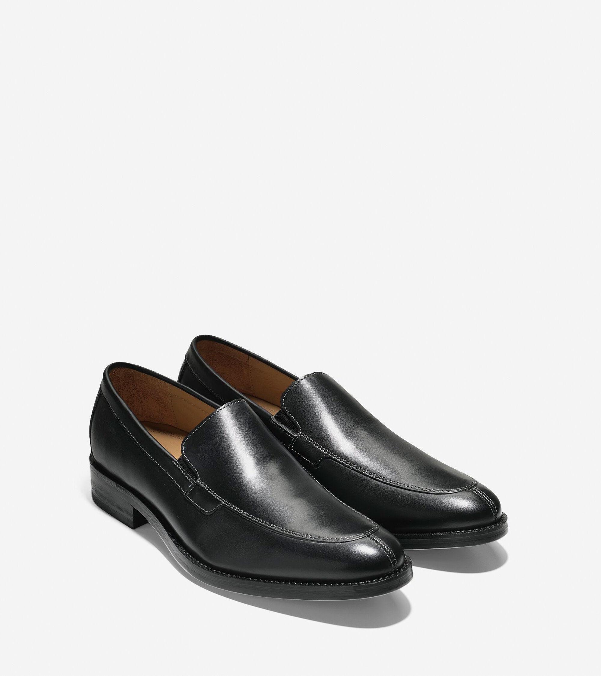 fdd7e322554 Mens Madison Split Toe Venetians in Black