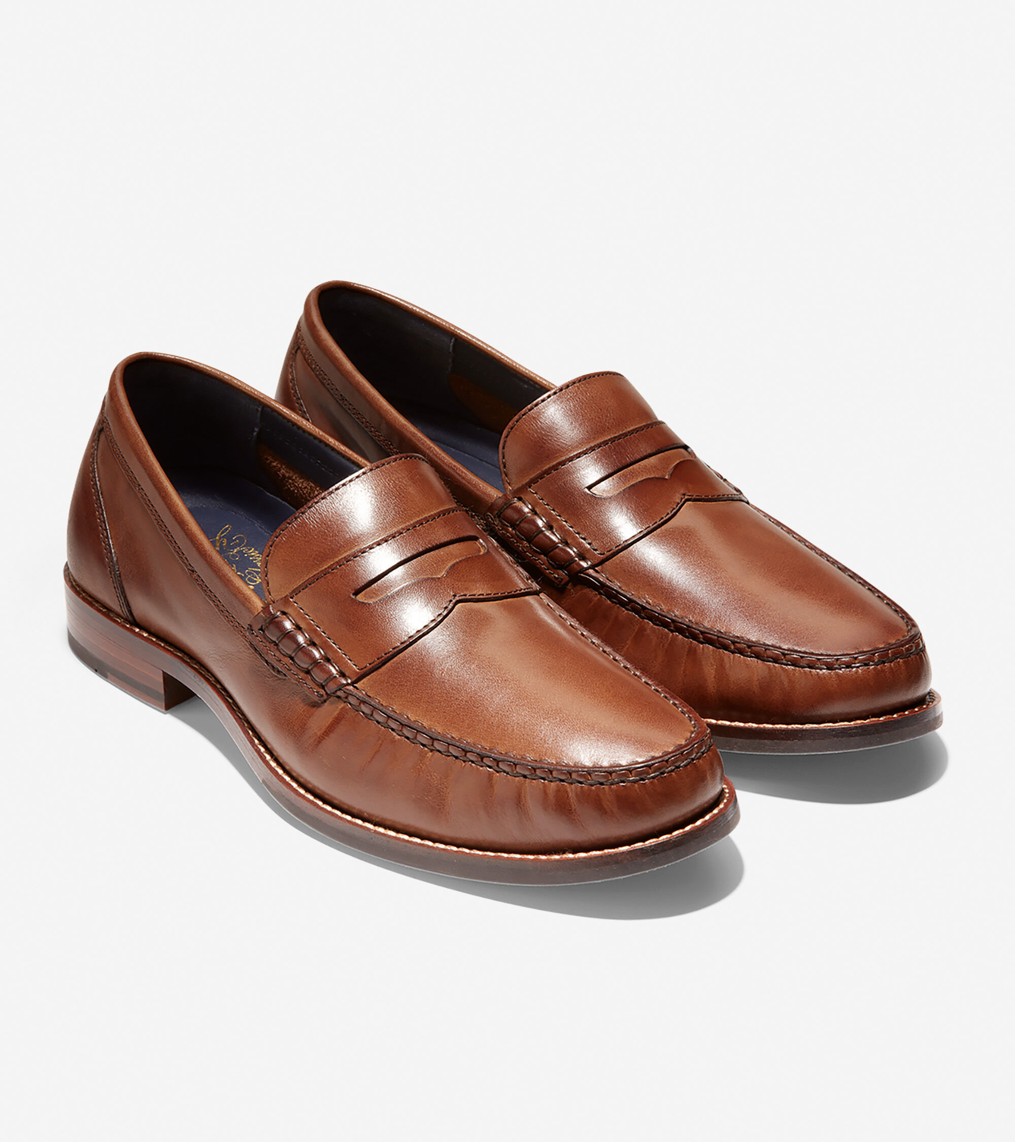 Men's Pinch Grand Classic Penny Loafers in Tan-Natural ...