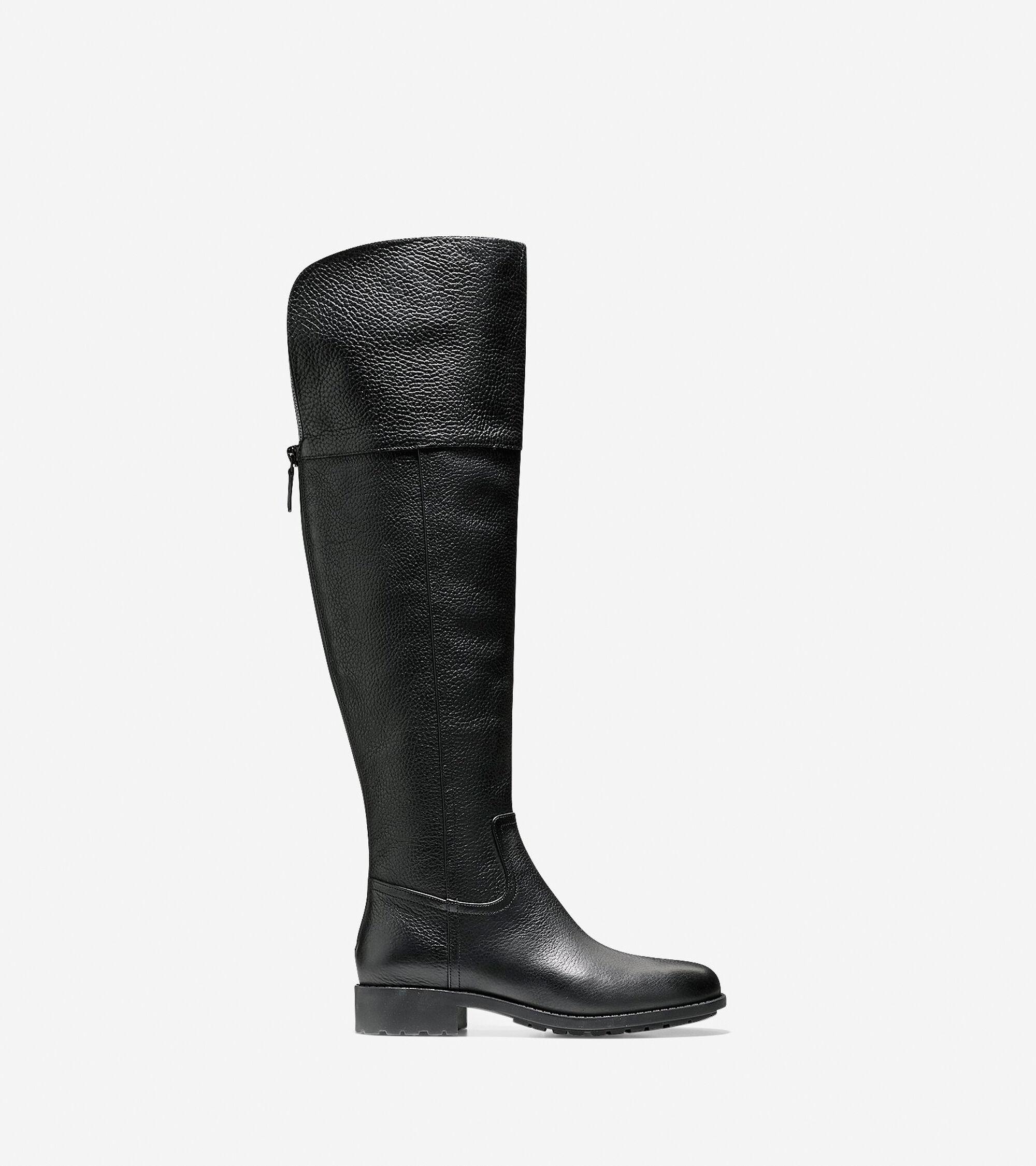 81ecc67d862 Prestiss Waterproof Over The Knee Boots in Black