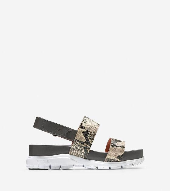 a83b2609b4cb ZEROGRAND Slide Sandals in Roccia Snake