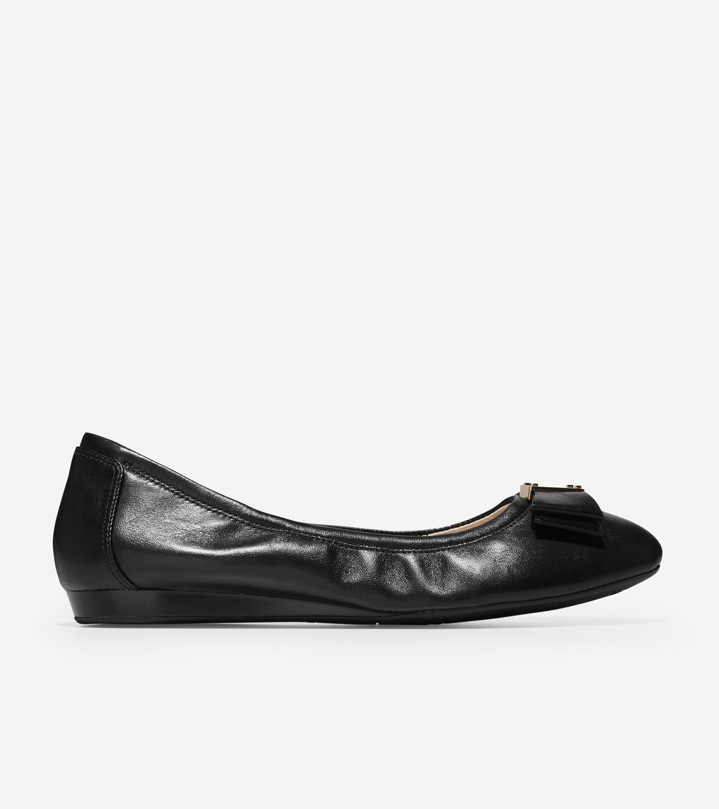 00e63b03ac Women's Tali Bow Ballet Flat in Black | Cole Haan US