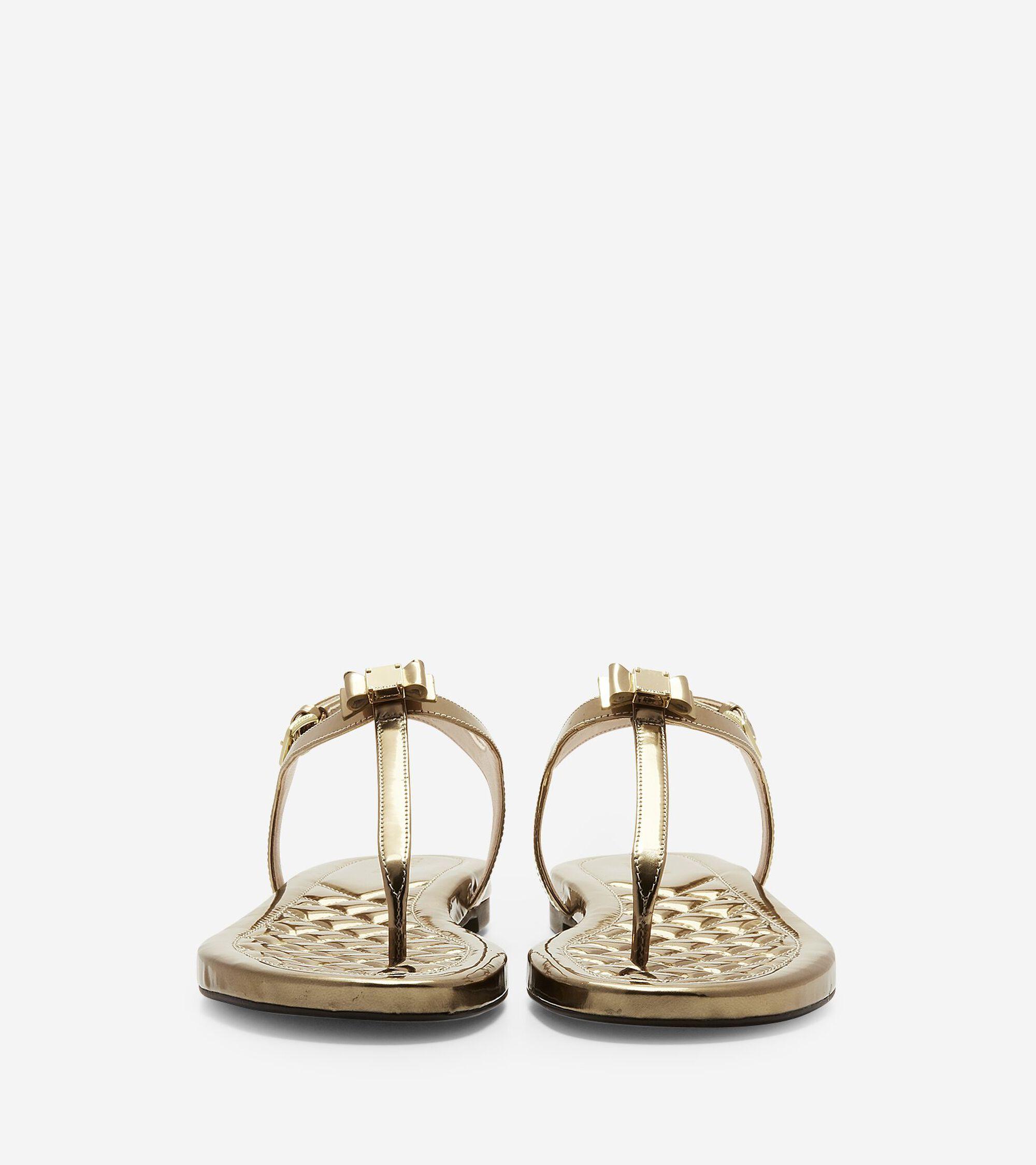 83d6226a12bc0 Women s Tali Mini Bow Sandals in Gold Specchio