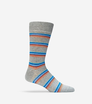 Blocked Stripe Crew Socks