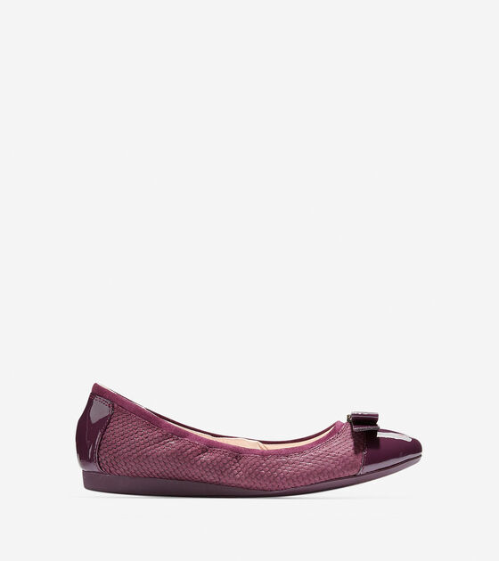 aefdb68f782f Women s Elsie Ballet Flats in Fig Embossed