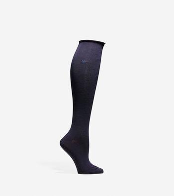 Roll Top Knee High Sock