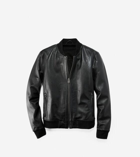 Men's Clearance > Leather Varsity Jacket
