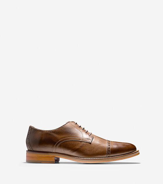 bd15558e195adf Mens Preston Cap Toe Oxfords in Dark Brown