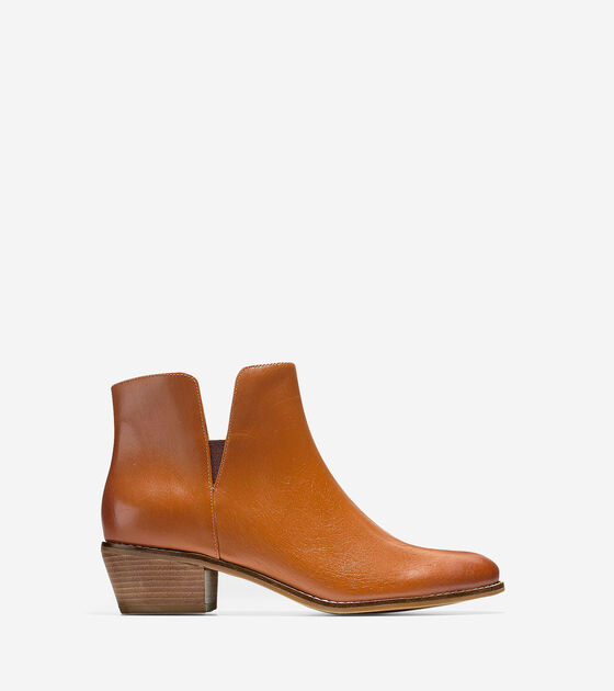 a4be4c84ea4 Womens Abbot Booties 45mm in Acorn Leather
