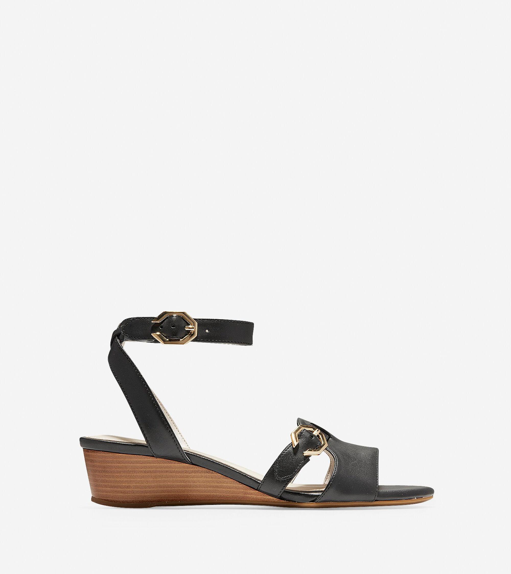 98d43cb210e Women s Terrin Buckle Wedge Sandals in Black