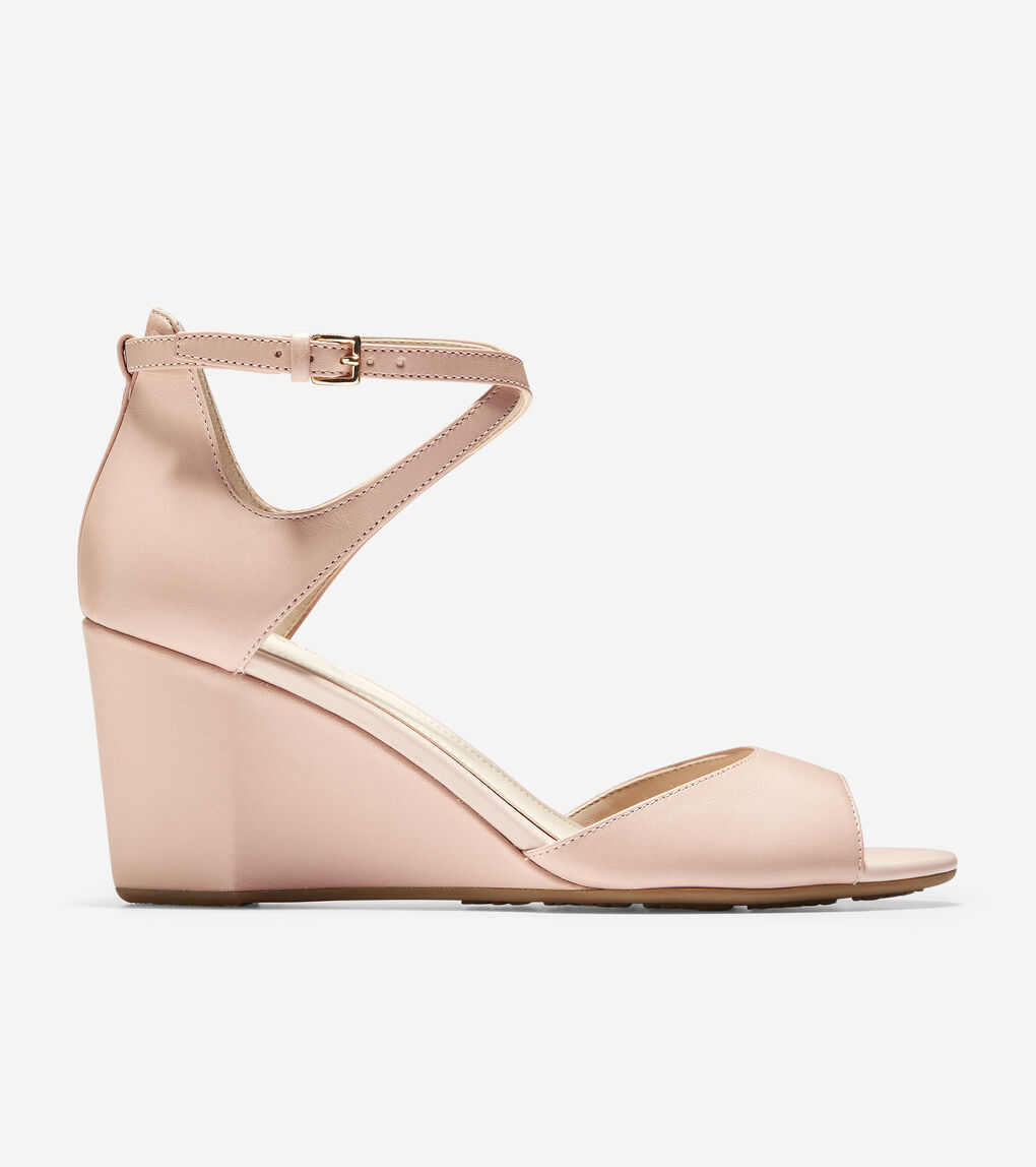 e817e72fbf Women's Sadie Open Toe Wedge Sandal (75mm) in Mahogany Rose Leather ...