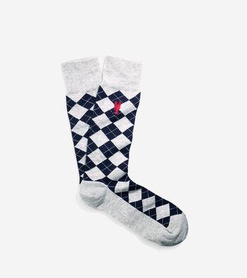 Pinch Argyle Crew Sock