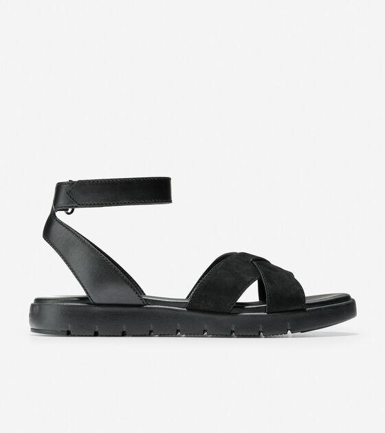 dea129043f2c Women s ZEROGRAND Cross Strap Sandals in Black