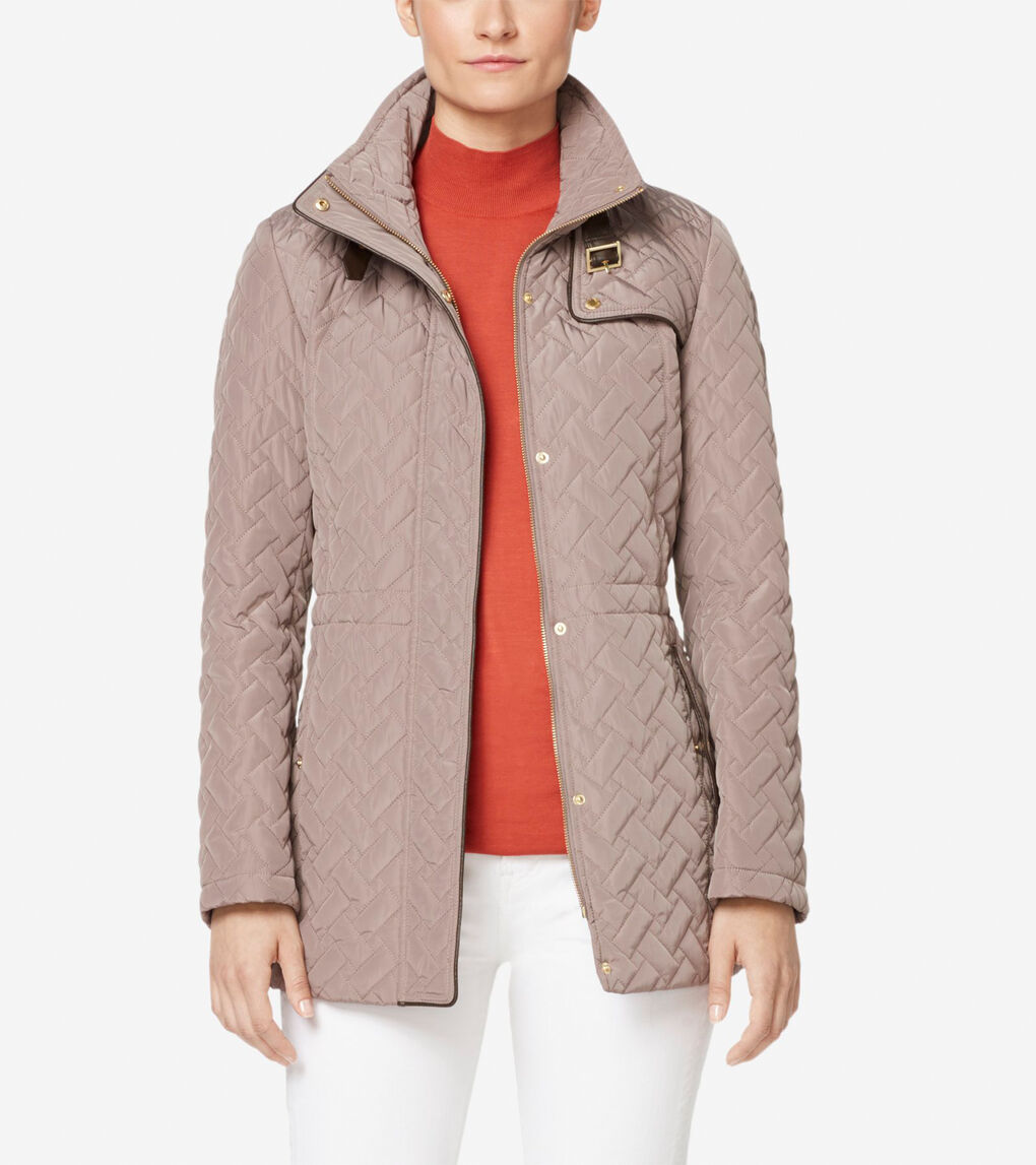 Womens Signature Quilted Short Jacket