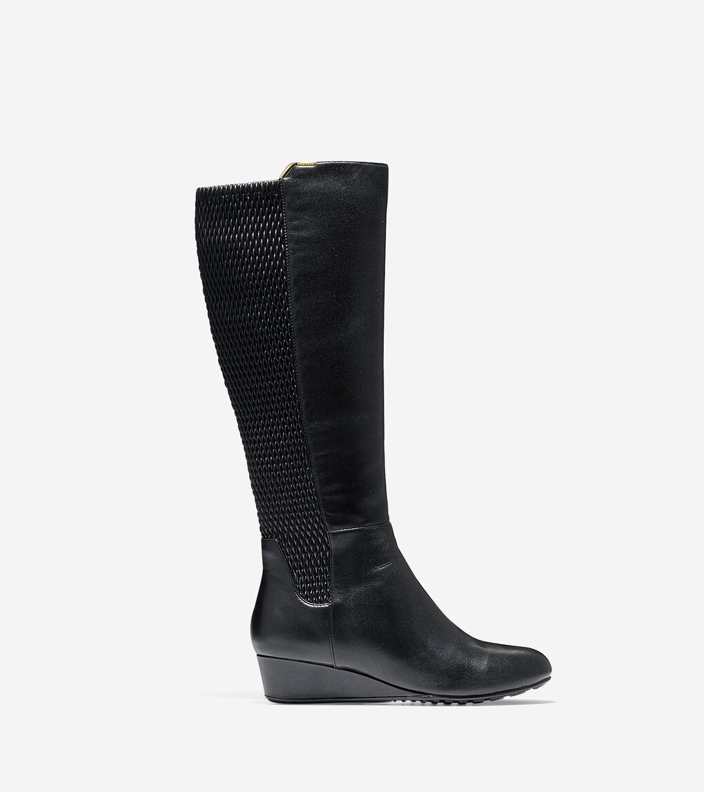 6ee35a9c9e422 Women's Tali Grand Stretch Boot (40mm) in Black Leather | Cole Haan US
