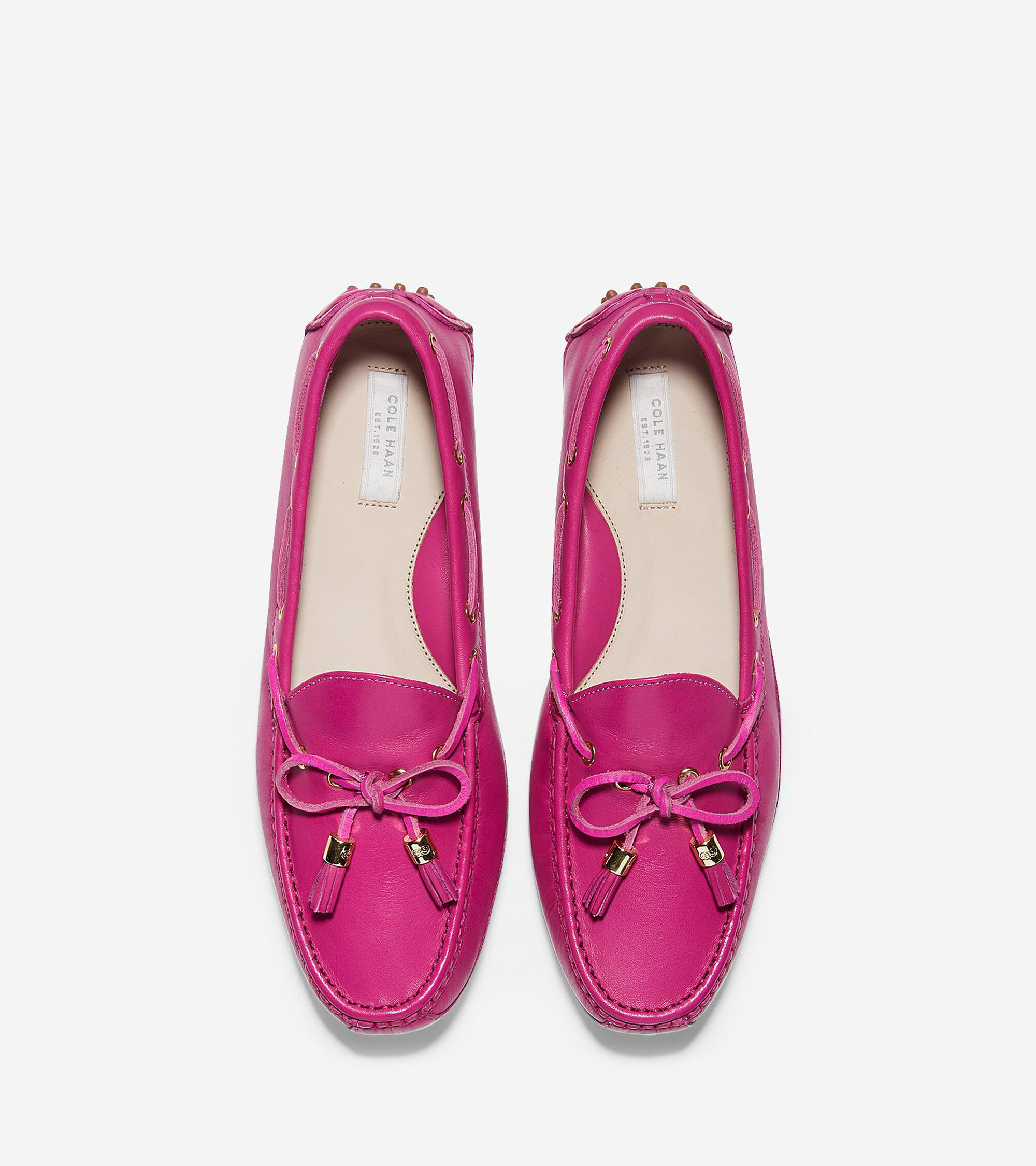 Womens Grant Drivers In Fuschia Leather Cole Haan Inside Flats Joyce Pink Driver