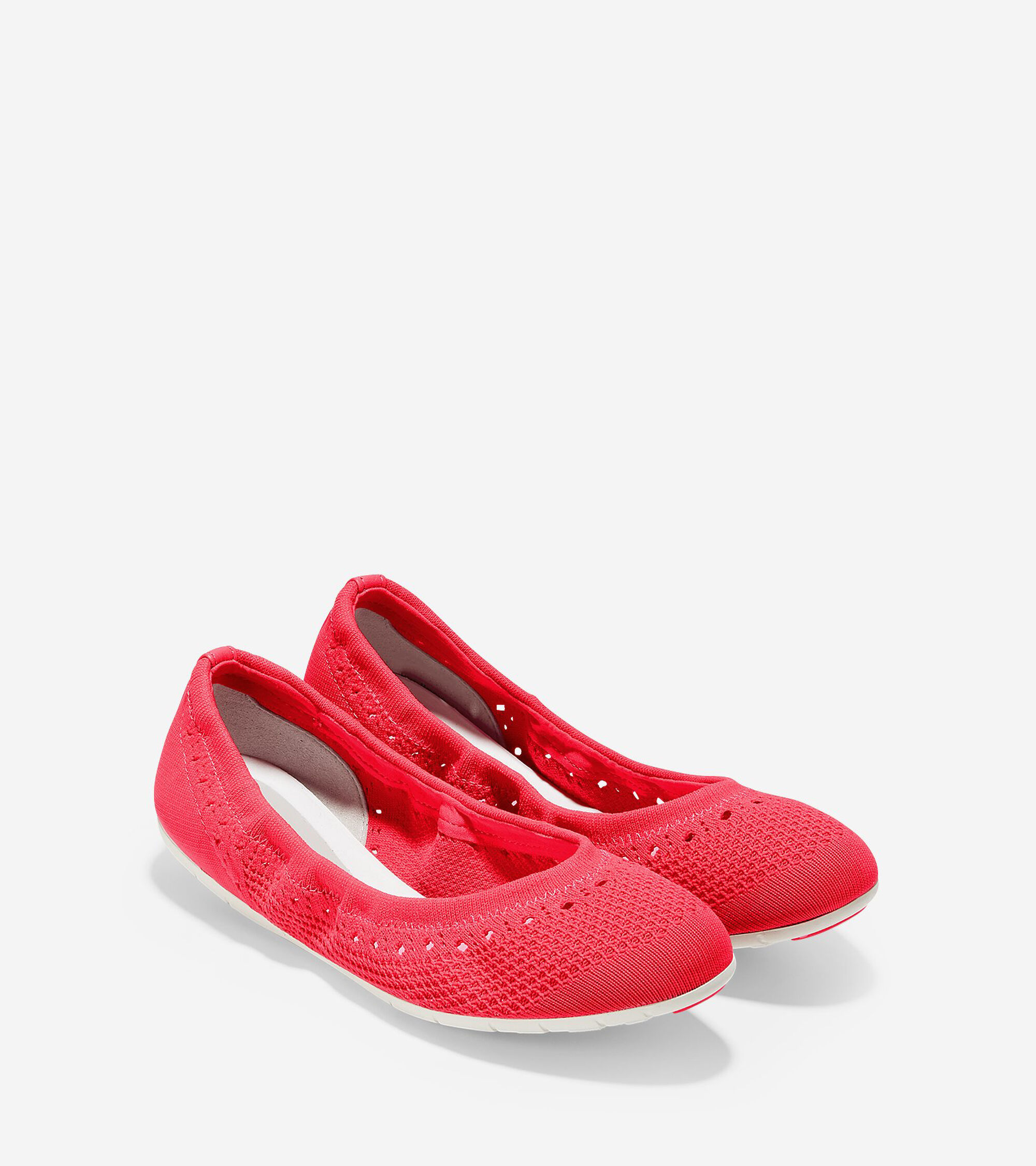 Womens Zerogrand Knit Ballet Flats In Flash Ivory Cole Haan  Olivia Sneakers Zergrand Flat With Stitchlite