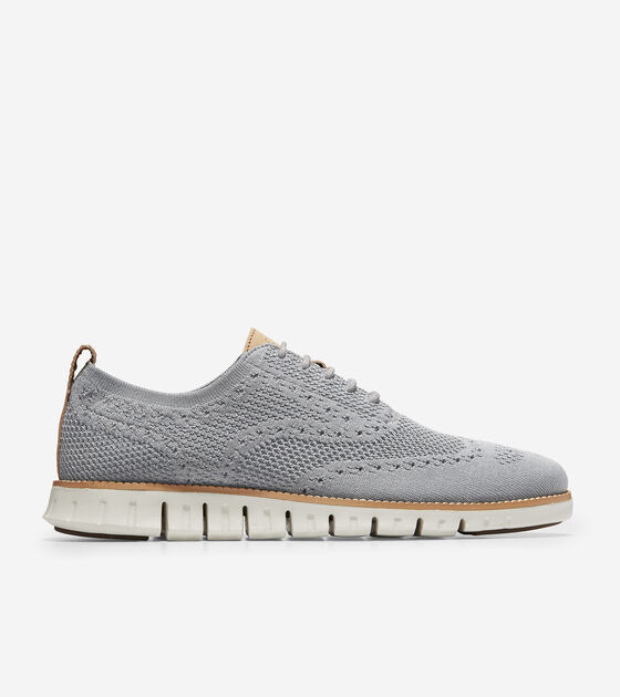 a2cb6d6e34 ZEROGRAND Stitchlite Wingtip Oxfords in Ironstone-Ivory | Cole Haan