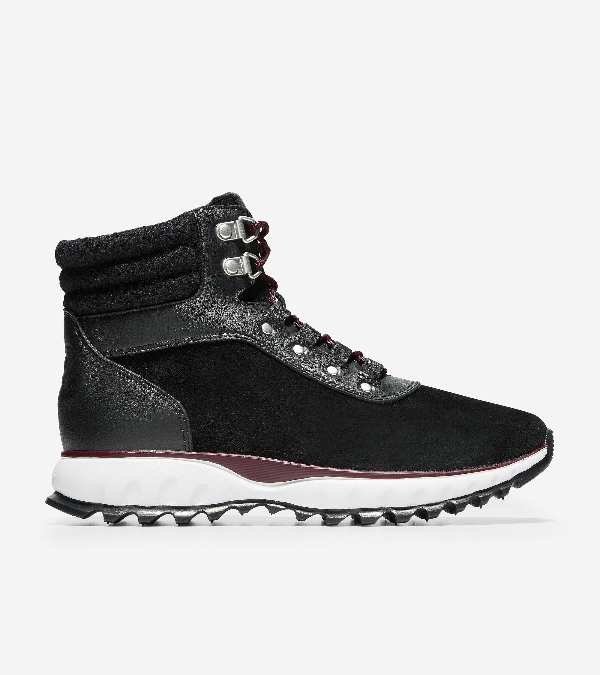 XC Hiker Boot in Black Suede