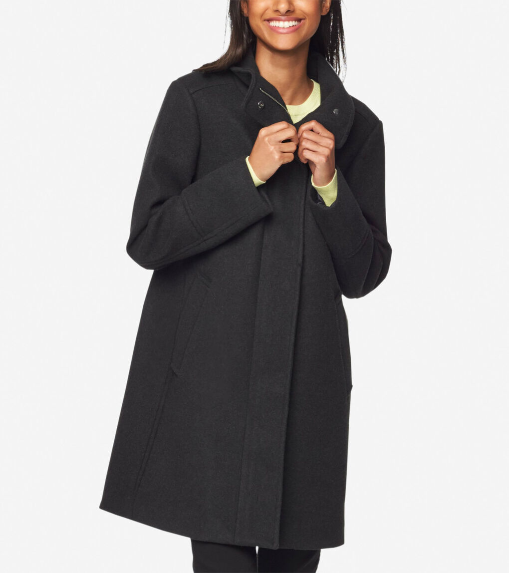 Womens GRANDSERIES Stretch Wool Coat