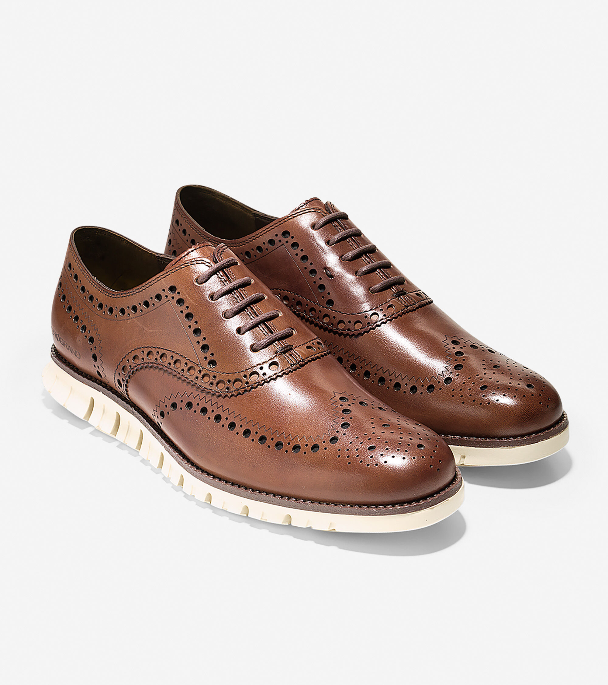 Men's ZEROGRAND Wing Oxfords in British Tan