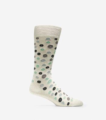 Pinch Pebble Dot Crew Socks