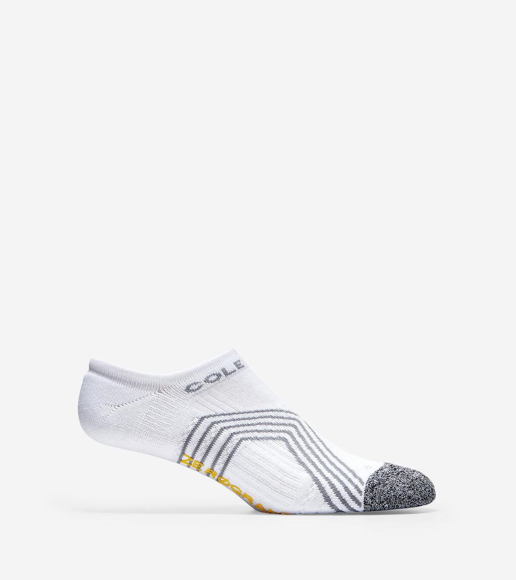 Mens ZERØGRAND Chevron Stripes Low Cut Socks