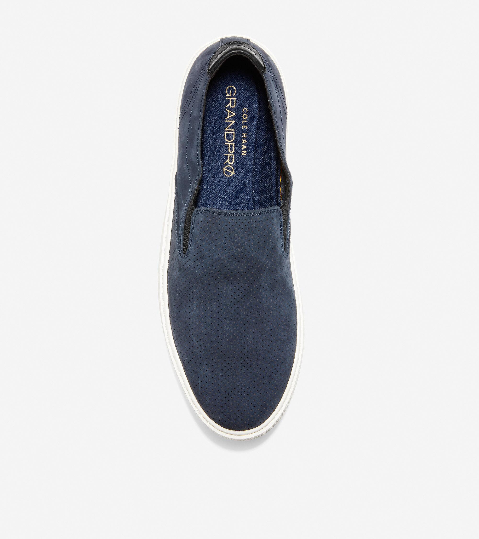 Deck Slip-On Sneaker in Navy Ink Nubuck