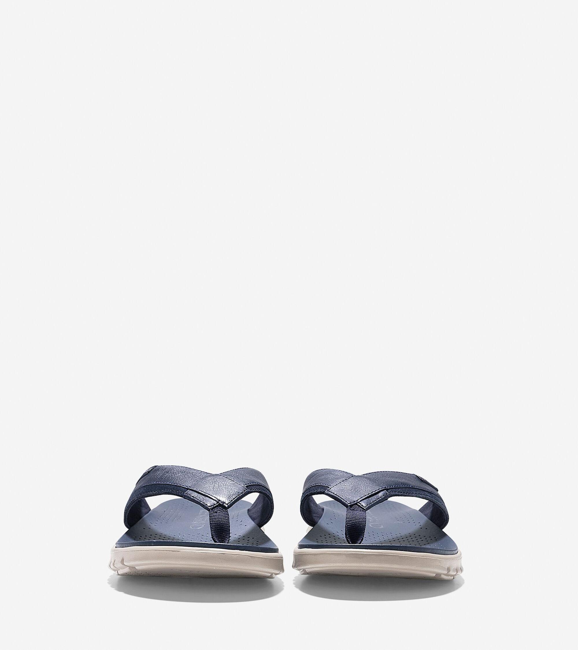 489b42e9df44 ZEROGRAND Fold Thong Sandals in Marine Blue
